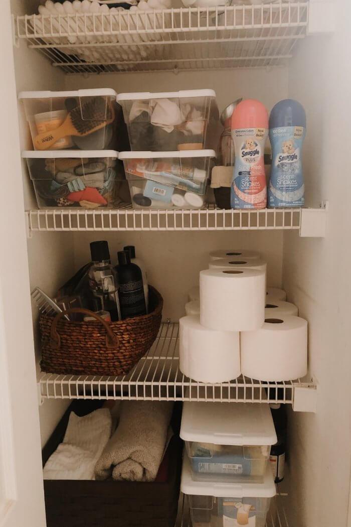 Linen Closet Organization with Snuggle & Kroger