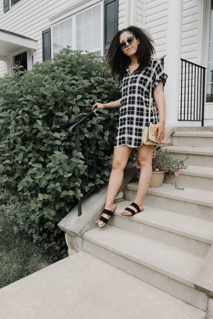 Transitional Summer to Fall Plaid Dress