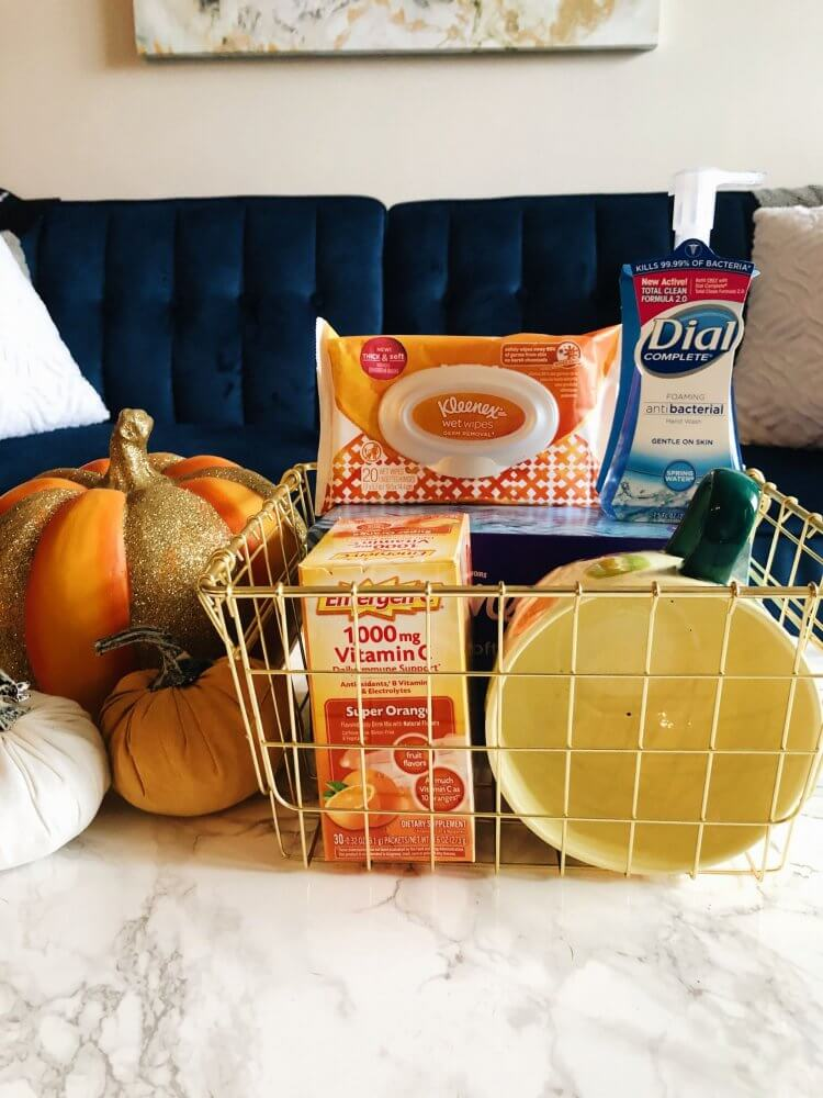 Wellness Essentials Basket with Dial, Kleenex, and Emergen-C at Kroger