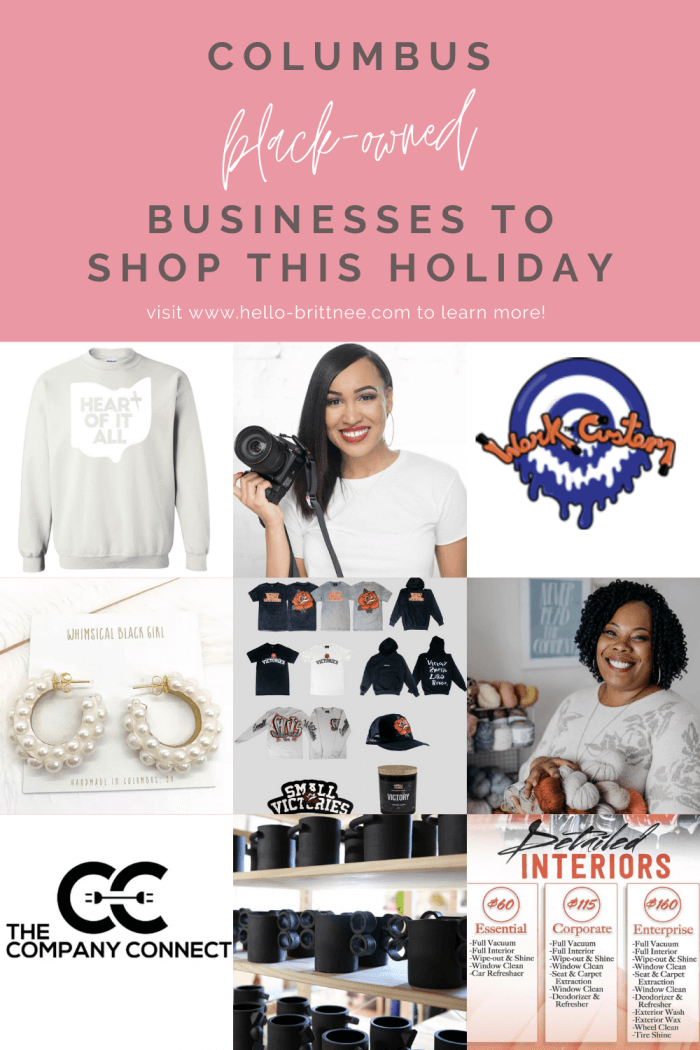 Columbus Black-Owned Businesses to Shop with this Holiday Season