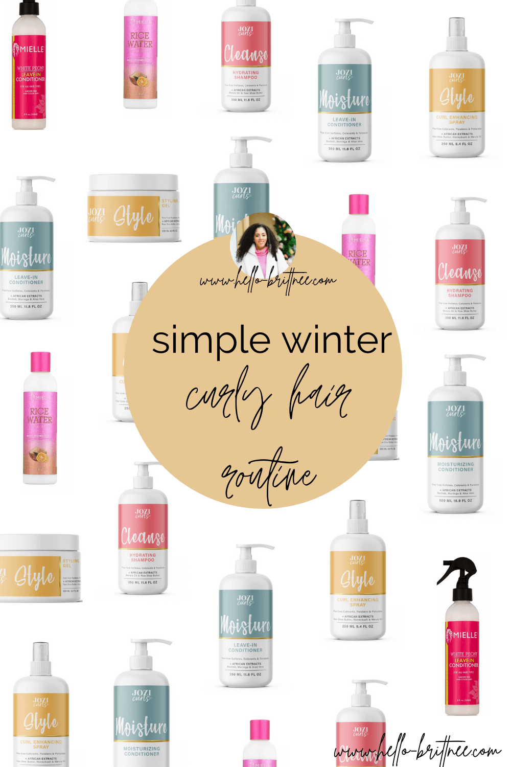 simple winter curly hair routine